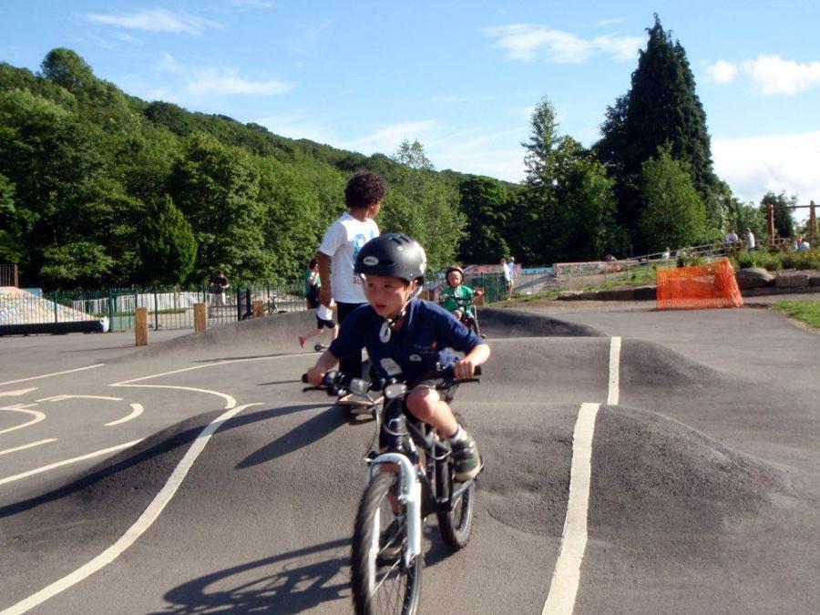 Kid's Cycleway - He's behind you!