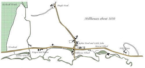 Millhouses in 1830s