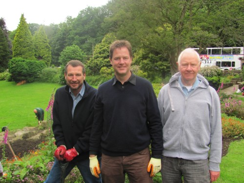 Nick Clegg at Beauchief Gardens