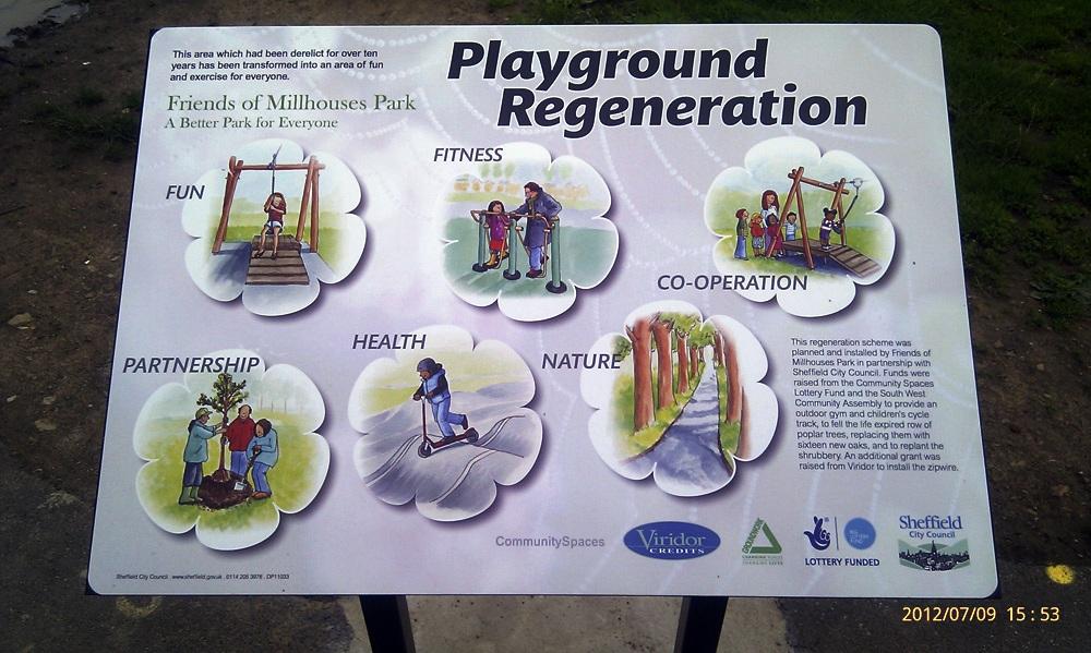 Playground Regeneration Signboard July 12