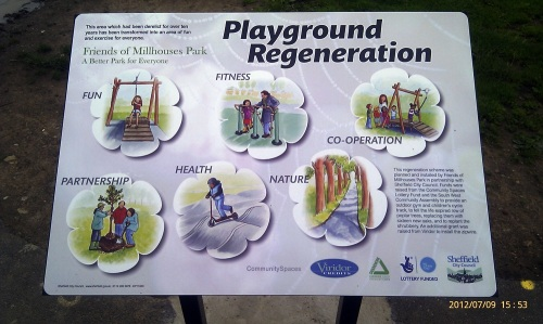Playground Regeneration Signboard July 12